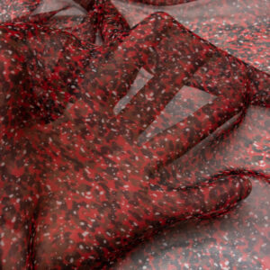 Chiffon, Animalprint, Schwarz, Rot, Weiß