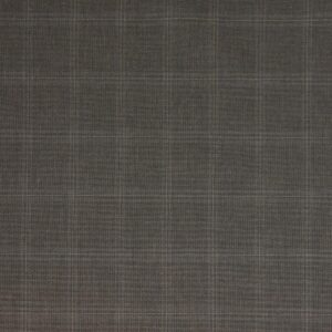 Hochwertiges Baumwolltuch, Karo, Sand, Braun