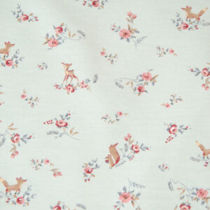 French Terry, Flora und Fauna, Pastell, Mint