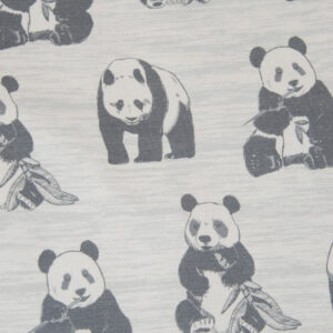 French Terry, Panda, meliert, Grautöne