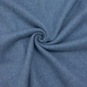 hochwertiger Fleece, Uni, Jeansblau