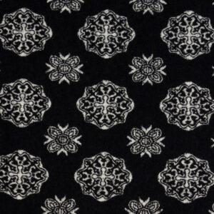 hochwertiger Jacquard, Ornamente, Schwarz/Weiß