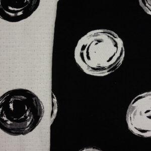 Jacquard, Punkte, Schwarz/Weiß