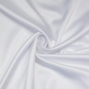 leichter Satin, Uni, Weiß