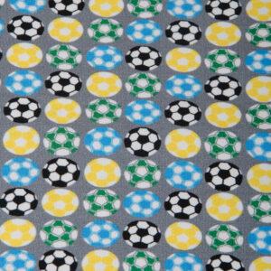Baumwolljersey, Fußball, Bunt, Blau, Grau, Gelb