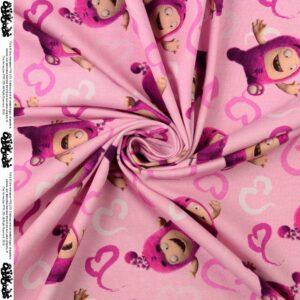 Jersey, Digitaldruck, Rosa, Pink