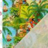 Jersey, Digitaldruck, Grüntöne, Aquamarine