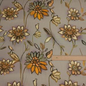 Viskose Stretch Blüten Beige