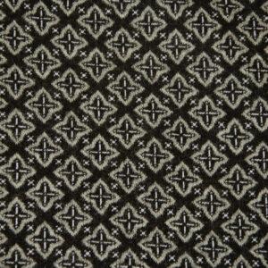 Feinstrick, geometrisch gemustert, Schwarz, Grau, Weiß