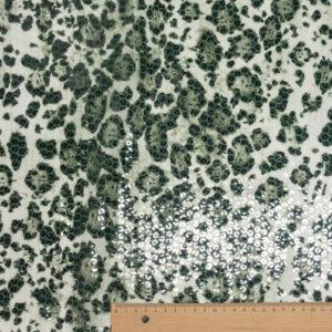 Paillette unterlegt mit Chiffon, Animalprint, Creme, Grau, Schilf