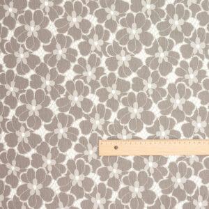 Spitze Stickerei Blumen Taupe Grau
