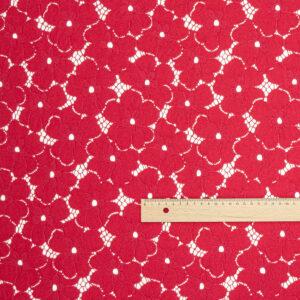 Spitze Stickerei Blumen Rot