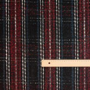 Buntgewebe Karo Schwarz-Blau-Rot