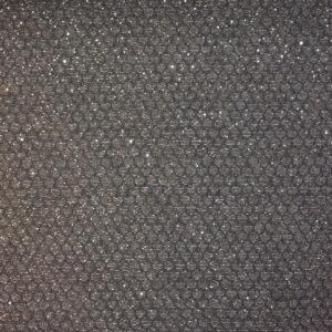 Jacquard Pailletten Silber Grau