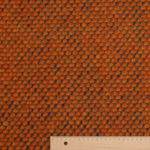 Jacquard Strick, Noppenmuster, Orange, Petrol