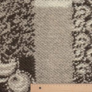 Jacquard Strick, Grafisches Muster, Braun, Beige