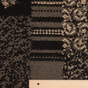 Jacquard Strick, Grafisches Muster, Brauntöne