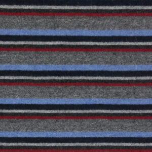 hochwertiger Feinstrick, Streifen, Grau, Blau, Rot