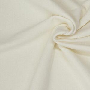 hochwertiger Baumwollsweat, Uni, Offwhite