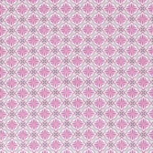 Popeline, grafisch gemustert, Hellgrau, Pink, Rosa