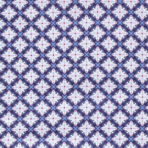 Popeline, grafisch gemustert, Blautöne, Rosa