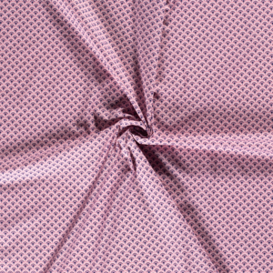 Popeline, grafisch gemustert, Rosa, Marine