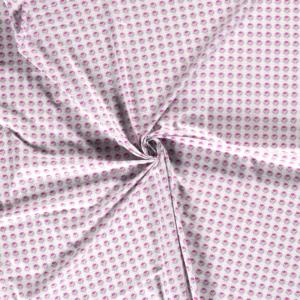 Popeline, Floral, grafisch gemustert, Hellgrau, Pink