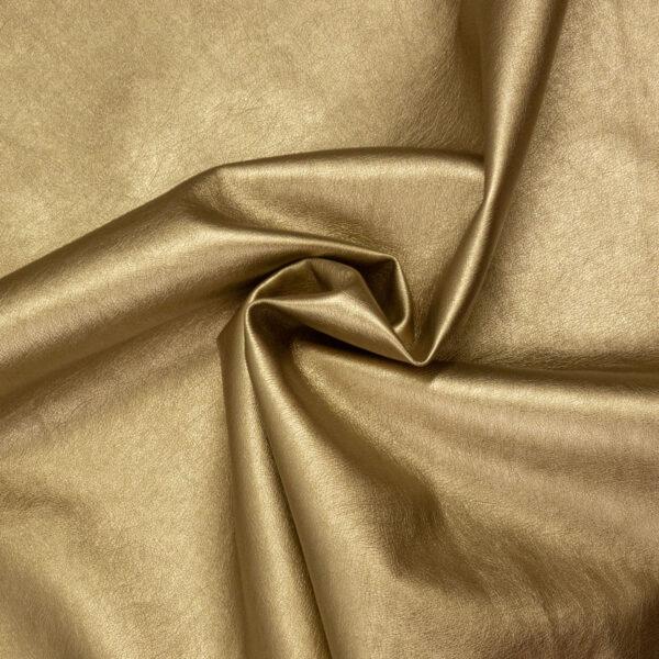 robustes Lederimitat, metallic, Gold