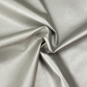 robustes Lederimitat, metallic, Silber
