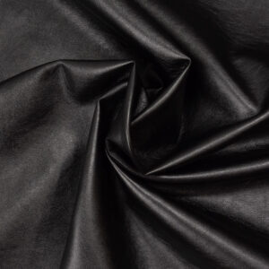 robustes Lederimitat, metallic, Schwarz