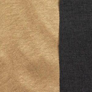 robustes Lederimitat, metallic, Rotgold