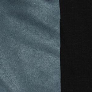 elastisches Lederimitat, metallic, Blau