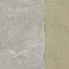 Lederimitat, Genarbt, metallic, Silber