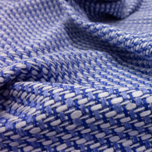 Tweed, Webmuster, Blau, Weiß