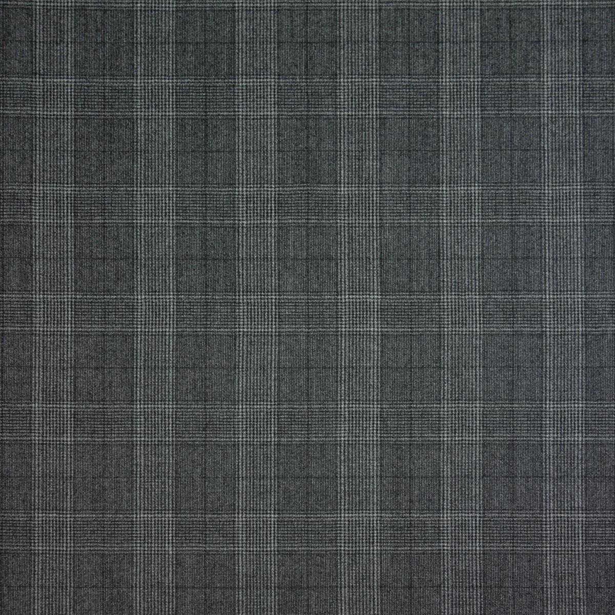 hochwertiges Streichgarn, Karo, Schwarz, Grau