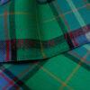 edles Wolltuch, Schottenkaro, Veilchenblau, Smaragd