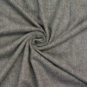Woll Tweed, Melange Optik, Salz & Pfeffer, Schwarz, Offwhite