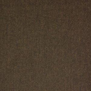 Woll-Tweed, Fischgrat, Schwarz, Rost