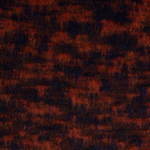 leichter Mantelflausch, abstrakt gemustert, Rost, Dunkelblau