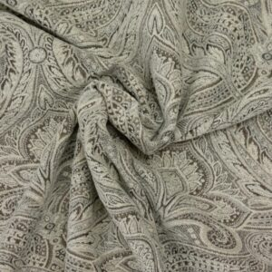 Chenille Jacquard, Paisley, Beige-Taupe