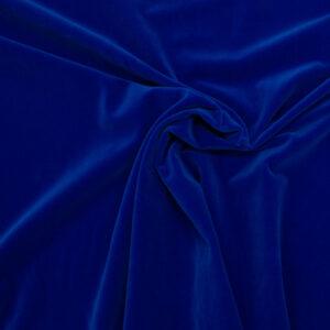 Hochwertiger Baumwollsamt, Royalblau