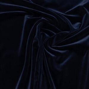 Hochwertiger Baumwollsamt, Nachtblau
