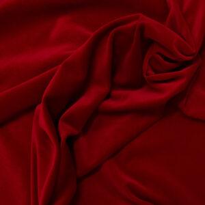 Hochwertiger Baumwollsamt, Rot