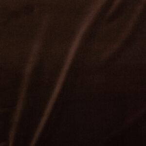 Hochwertiger Baumwollsamt, Dunkelbraun