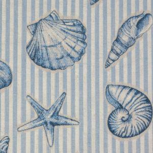Jacquard, Streifen, Maritim, Natur, Offwhite, Azur