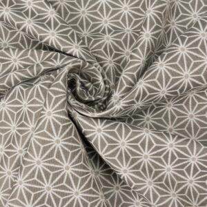 Jacquard, ornamental gemustert, Offwhite, Taupe, Beige