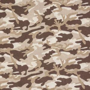 feiner Crétonne, Camouflage, Beigetöne, Braun