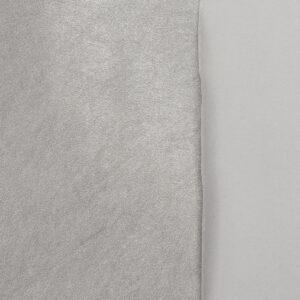 elastisches Lederimitat, metallic, Silber