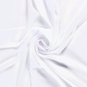 Chiffon, Uni, Weiß