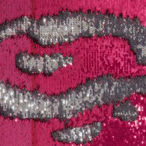 Wendepaillette, Bicolor, Pink, Silber